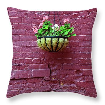 Throw Pillow featuring the photograph Rochester, New York - Purple Wall by Frank Romeo