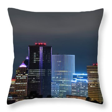 Rochester Ny Twilight Throw Pillow