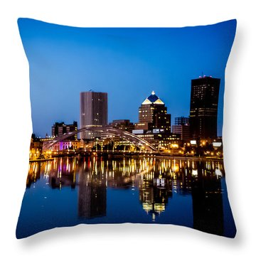 Rochester Reflections Throw Pillow by Sara Frank