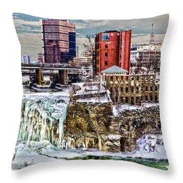 Rochester Winter Panorama Throw Pillow