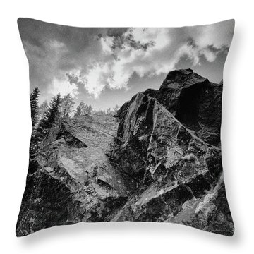 Rock #9542 Bw Version Throw Pillow
