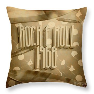Rock And Roll 1968 Throw Pillow
