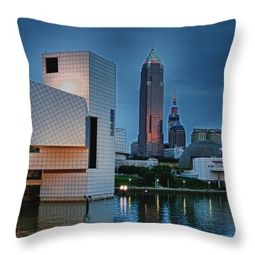 Rock And Roll Hall Of Fame And Museum Throw Pillow by Richard Gregurich