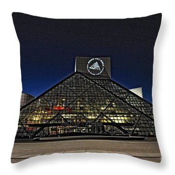 Throw Pillow featuring the photograph Rock And Roll Hall Of Fame - Cleveland Ohio - 5 by Mark Madere