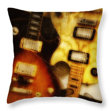 Rock And Roll Never Forgets Throw Pillow by Bill Cannon