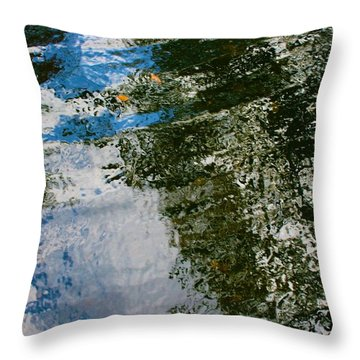 Rock And Sky Reflection Throw Pillow