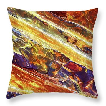 Throw Pillow featuring the digital art Rock Art 26 by ABeautifulSky Photography