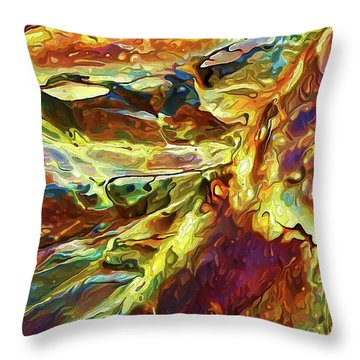 Throw Pillow featuring the photograph Rock Art 27 by ABeautifulSky Photography