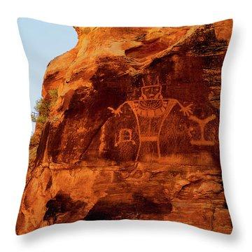 Rock Art From Utah Throw Pillow
