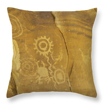 Rock Art From Utah II Throw Pillow