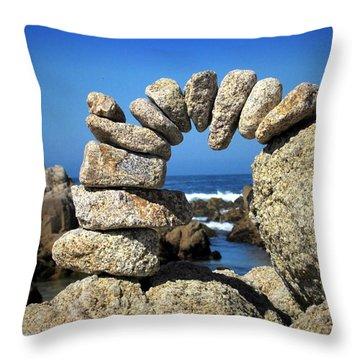 Rock Art One Throw Pillow by Joyce Dickens