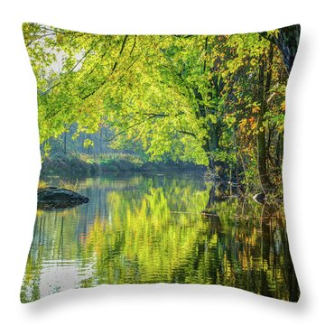 Rock At Sunrise Throw Pillow