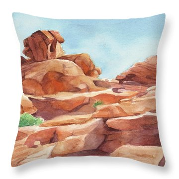 Rock Away Throw Pillow