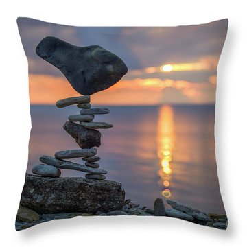 Rock Boarding Throw Pillow