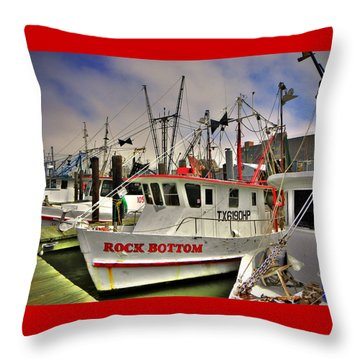 Throw Pillow featuring the photograph Rock Bottom by Savannah Gibbs