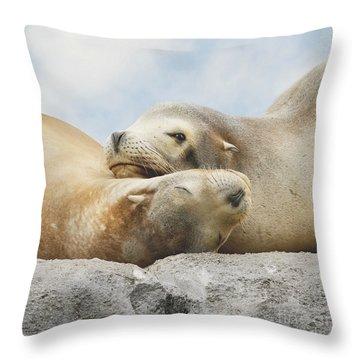 Rock Buddies Throw Pillow by Roy  McPeak