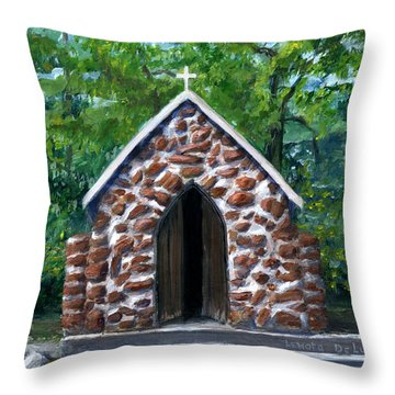 Rock Chapel Desoto Parish, Louisiana Throw Pillow