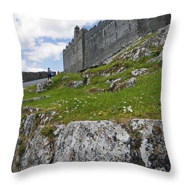 Rock Of Cashel Ireland Throw Pillow