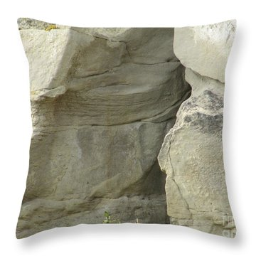 Rock Cleavage Throw Pillow