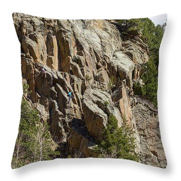 Throw Pillow featuring the photograph Rock Climbers Paradise by James BO Insogna