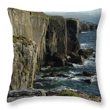 Rock Climbing Burren Throw Pillow
