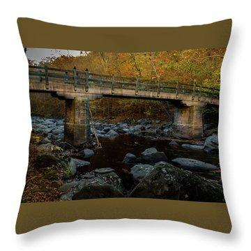 Rock Creek Park Bridge Throw Pillow