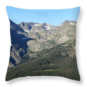 Rock Cut - Rocky Mountain National Park Throw Pillow