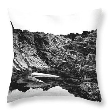 Throw Pillow featuring the photograph Rock - Detail by Rebecca Harman