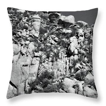 Rock Face Sandia Mountain Throw Pillow