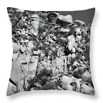 Rock Face Sandia Mountain Throw Pillow