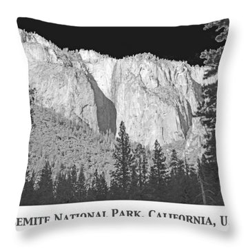 Throw Pillow featuring the photograph Rock Formation Yosemite National Park California by A Gurmankin