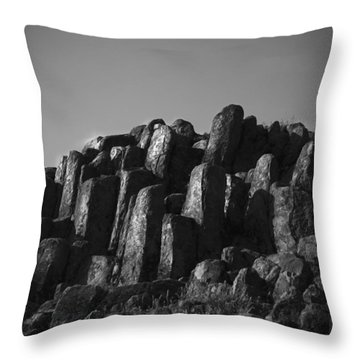 Monument To Glacier Throw Pillow