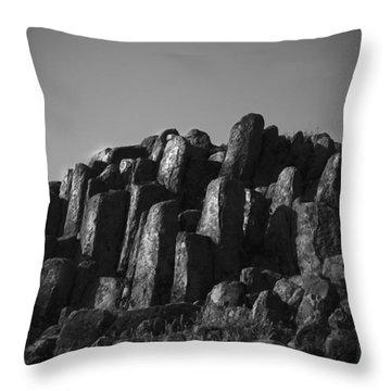 Monument To Glacier Throw Pillow