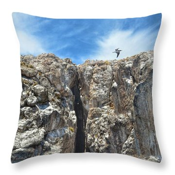 Rock Formations Throw Pillow by Nikki McInnes