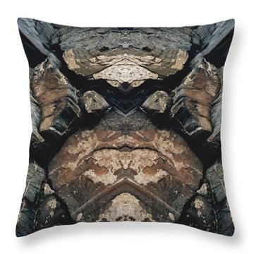 Throw Pillow featuring the photograph Rock Gods Rock Matron by Nancy Griswold