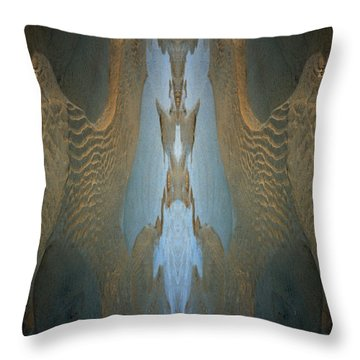 Throw Pillow featuring the photograph Rock Gods Seabird Of Old Orchard by Nancy Griswold