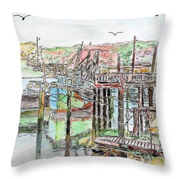 Rock Harbor, Cape Cod, Massachusetts Throw Pillow