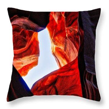 Rock Heart Throw Pillow
