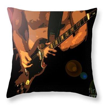 Rock Hero Throw Pillow by David Lee Thompson