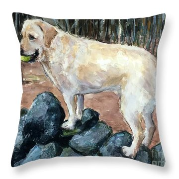 Rock Hopper Throw Pillow by Molly Poole