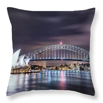 Rock Into The Night Throw Pillow