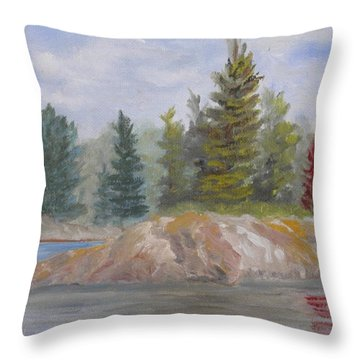 Rock Island Throw Pillow