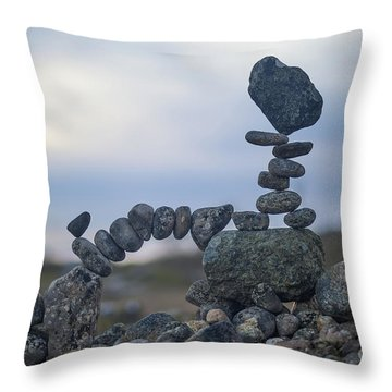 Rock Monster Throw Pillow
