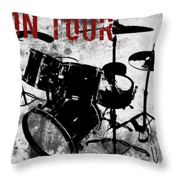 Rock N Roll Percussion  Throw Pillow