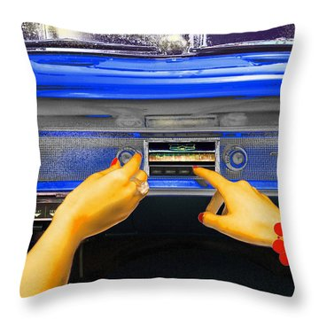 Rock N Roll Radio Throw Pillow