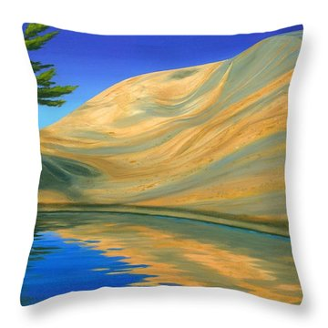 Throw Pillow featuring the painting Rock Of Ages by Michael Swanson