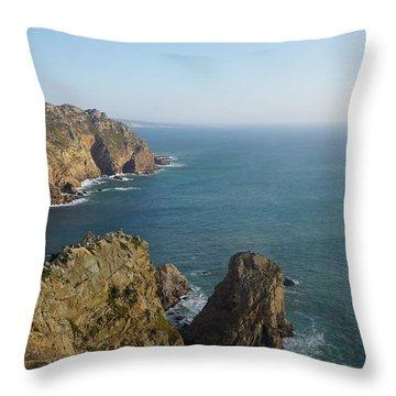 Rocks Near To Cabo Da Roca Throw Pillow