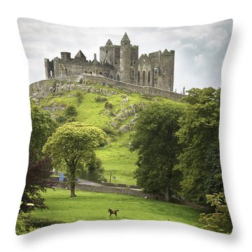 Rock Of Cashel Cashel County Tipperary Throw Pillow