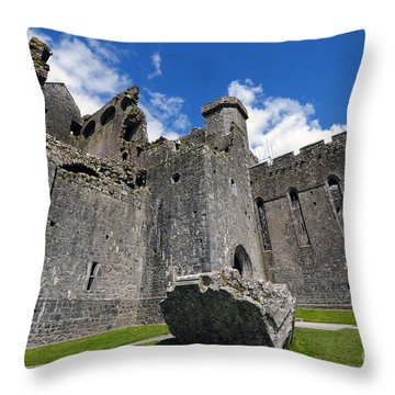 Rock Of Cashel Throw Pillow by Cindy Murphy - NightVisions