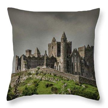 Rock Of Cashel Throw Pillow